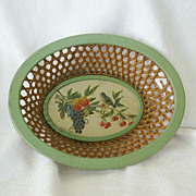 SALE Enameled Basket Made In Occupied West Germany 1940's