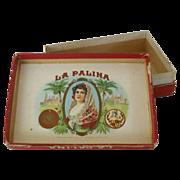 SALE Small Cardboard Box La Palina Cigars