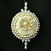 SALE Lee Wards Velvet And Faux Pearl Ornament