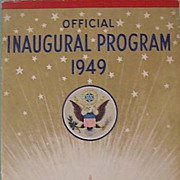 SOLD Official Program 1949 Truman Inauguration - Red Tag Sale Item