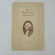 SALE Washington Monument Rare Visitor's Guide 1923