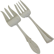 Pair Rogers Meat Serving Forks