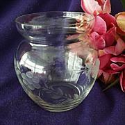 SALE Princess House Rose Bowl or Short Vase