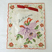 Merry Christmas Mother With Satin Insert 1946