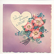 Valentine Greetings For Mom Postmarked 1940