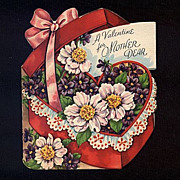 Pretty Flowers For Mom On Valentine's Day 1952