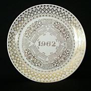 SALE 1962 Anniversary Calendar Plate
