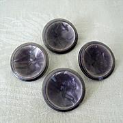 SALE 1950s Lavender Plastic Coat Buttons