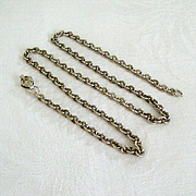 Fancy Silver-tone Long Chain Necklace