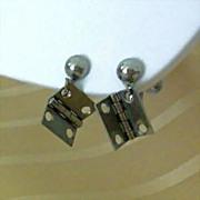 SALE Unusual Earrings Are Miniature Door Hinges