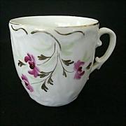 SALE Vintage Floral Mustache Cup