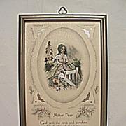 Vintage Mother Dear  Buzza Motto Print  Poet Maurine Hathaway Circa 1920's