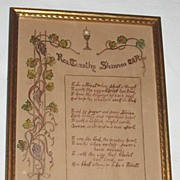 Vintage Religious Priest Motto Blessing To Be A Priest  All Hand-Done   Artist  Rev. Timothy .