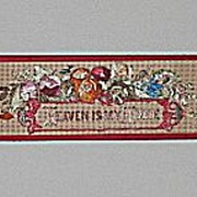 Heaven Is My Home  Bookmark   Religious and  Floral Antique Punch Paper Motto with  Original S
