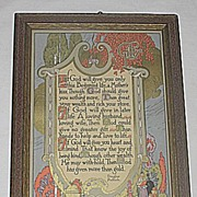 The Gift  of Life  Inspirational  Gibson Art Company Motto Print  Masonic Poet  Brother Dougla