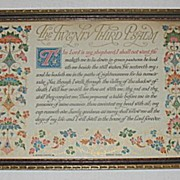 'The Twenty Third Psalm' Decorative  Religious Buzza Motto Print /