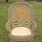 SALE Antique Victorian Wicker Arm Chair