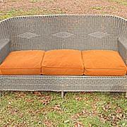 SALE Art Deco Wicker Sofa