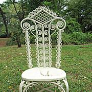 SALE Antique Victorian Wicker Reception Chair