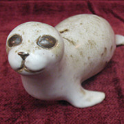 Adorable Seal Figurine/ Paperweight Artist Signed