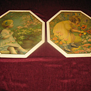 "Pair of Charming Prints ""Poppy Love"" & ""Song of Happiness"" Annie Benson Mu"