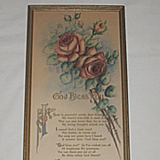 'God Bless You' Dear Friend, Tender Blessings for Someone Special, Lg. Floral Motto Prayer  Pr