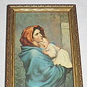 'Madonna of the Street' Virgin Mary Holds Sleeping Infant Jesus Sm  Religious Print / Arti