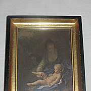 Vintage Rest on the Flight into Egypt  The Holy Family Mary  Jesus and  Joseph  Small  Religio