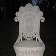 Fancy Victorian Wicker Reception Chair