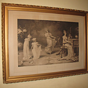 Antique Print When the Heart is Young by artist Maude Goodmann Circa 1893 Print