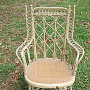 Antique Child's Wicker Rocker Circa 1880's