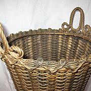 SALE AVictorian Wicker Basket