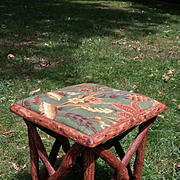 Vintage Rustic Twig Table Circa 1920's