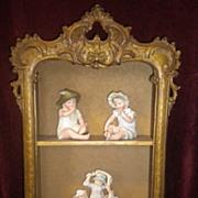 SALE Decorative Hanging Wood Cabinet Shelf Circa 1920's