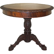 Rare Ornate Antique Mahogany Victorian Parlor Table Circa 1860's