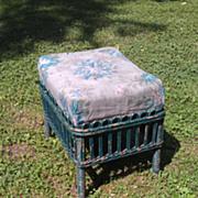 SALE Stick Wicker Footstool Circa 1920's