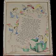 A Nurse's Prayer Circa 1920's