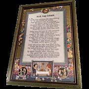 For the Bride Rare Antique Motto Print Buckbee Bremm Circa 1920s