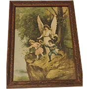 SALE Vintage Guardian Angel Print Circa 1920's