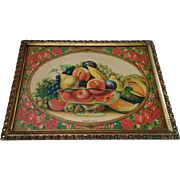 Antique Lithograph Titled Southern Fruits Circa  1910