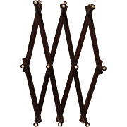 Accordion Style Walnut Wood Hat Rack Circa 1910