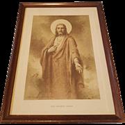 The Sacred Heart Sepia Print by Charles Bosseron Chambers Circa 1933