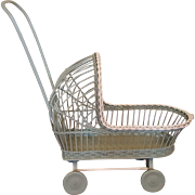 Adorable Wicker Doll Carriage  Circa 1920's