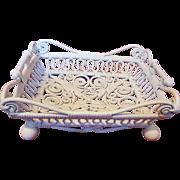 Rare Ornate Victorian Wicker Basket Circa 1890's