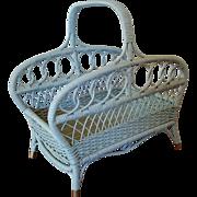 Wicker Wood Basket Magazine Basket Circa 1920'S