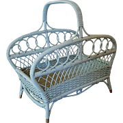 Wicker Wood Basket Magazine Basket Circa 1920'S