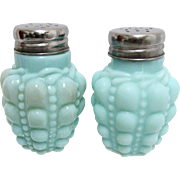 SALE American Glass Salt and Pepper Set Consolidated Lamp and Glass Co. Guttate