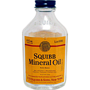 SALE SQUIBB Travel Size 6 oz. Mineral Oil Bottle