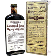 SOLD Andersons Syrup with Original Box from Old Drugstore or Pharmacy