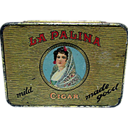 SALE Advertising Pocket Cigar Tin La Palina